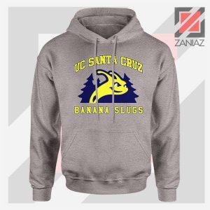 UC Banana Slugs Mascot College Sport Grey Hoodie