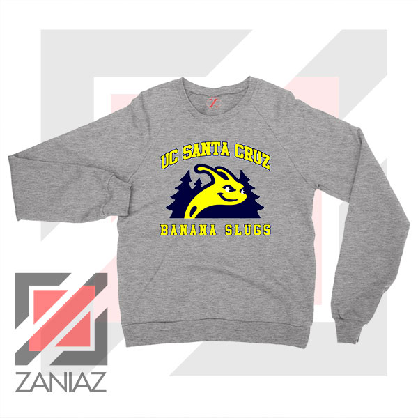 UC Banana Slugs Mascot College Sport Grey Sweatshirt