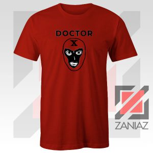 Doctor X Face Graphic Red Tee