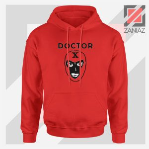 Doctor X Face Graphic Red Hoodie
