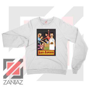 Bobs Burgers Family Design White Sweatshirt