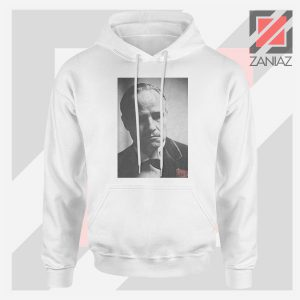 Don Vito Corleone Portrait White Hoodie