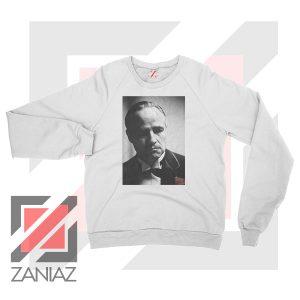 Don Vito Corleone Portrait White Sweatshirt