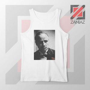 Don Vito Corleone Portrait White Tank Top