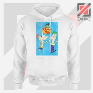 Funny Phineas and Ferb Disney White Hoodie