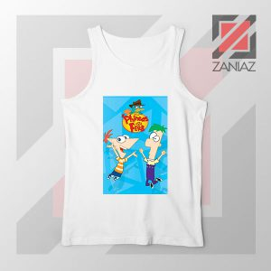Funny Phineas and Ferb Disney White Tank Top