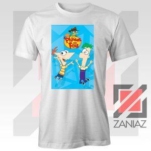 Funny Phineas and Ferb Disney White Tshirt