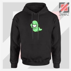 Green Ghost Animated Black Hoodie