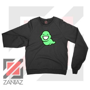 Green Ghost Animated Black Sweatshirt