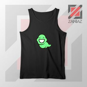 Green Ghost Animated Black Tank Top