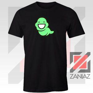 Green Ghost Animated Black Tee