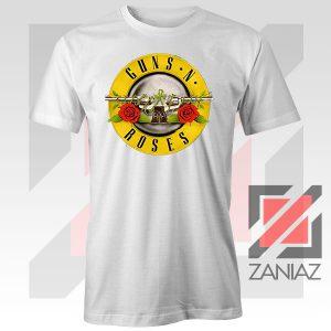Guns N Roses Metal Graphic White Tee