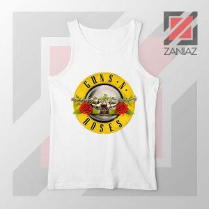 Guns N Roses Metal New Graphic White Tank Top
