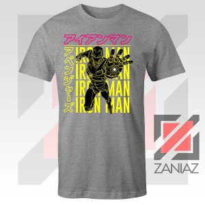 Iron Man Designs Anime Sport Grey Tshirt