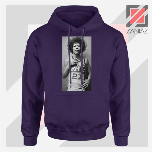 Jimi Hendrix Team 27 Sonics Navy Blue Hoodie