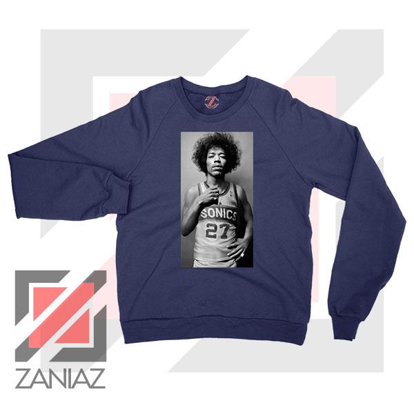 Jimi Hendrix Team 27 Sonics Navy Blue Sweater