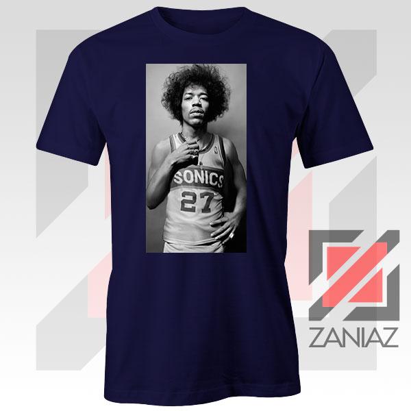 Jimi Hendrix Team 27 Sonics Navy Blue Tshirt