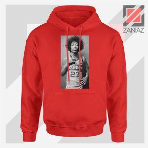 Jimi Hendrix Team 27 Sonics Red Hoodie
