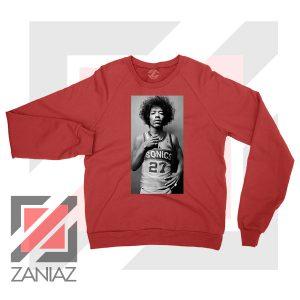 Jimi Hendrix Team 27 Sonics Red Sweater