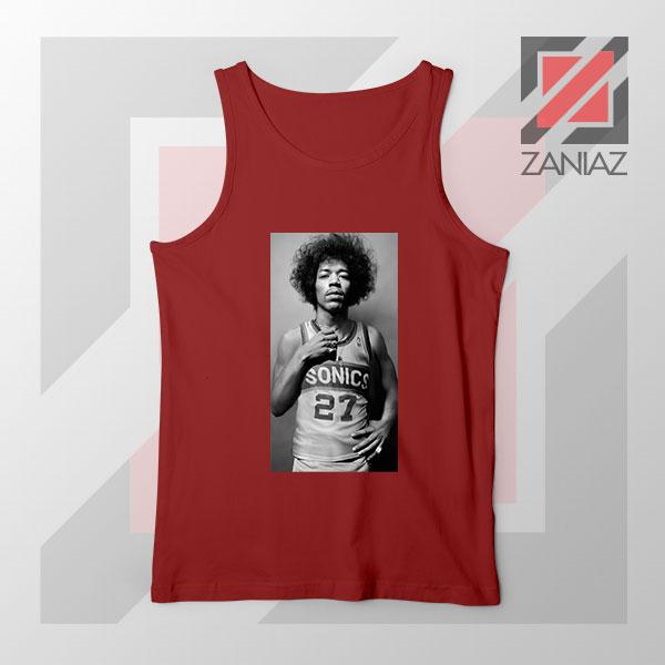 Jimi Hendrix Team 27 Sonics Red Tank Top