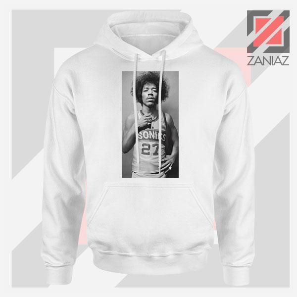 Jimi Hendrix Team 27 Sonics White Hoodie