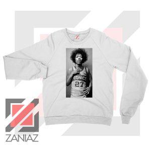 Jimi Hendrix Team 27 Sonics White Sweater