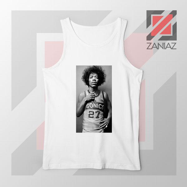 Jimi Hendrix Team 27 Sonics White Tank Top