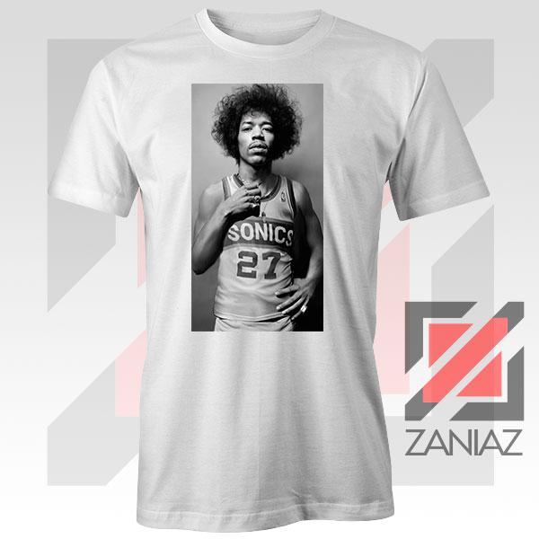 Jimi Hendrix Team 27 Sonics White Tshirt