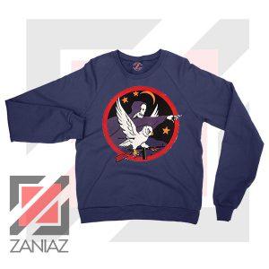 Night Fighter Squadron Owl Navy Blue Sweatshirt
