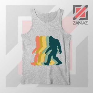 Rainbow Bigfoot Graphic Sport Grey Tank Top