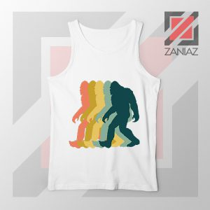 Rainbow Bigfoot Graphic White Tank Top