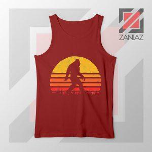 Sasquatch Silhouette DesignsRed Tank Top