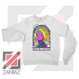 Tryna Smoke Aiko White Sweatshirt