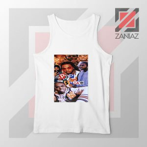 3 Welcome to The Party Pop Smoke White Tank Top