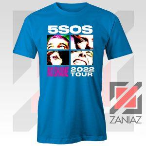 5sos No Shame 2022 Tour Blue Tshirt