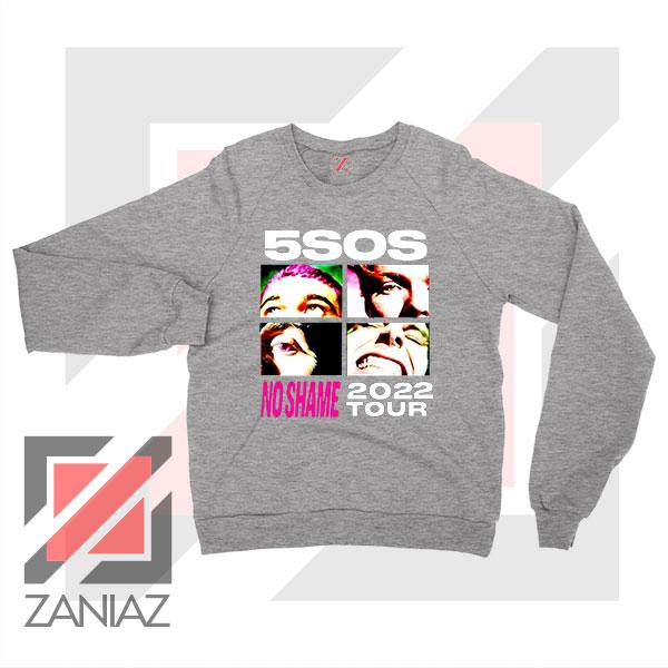 5sos No Shame 2022 Tour Grey Sweatshirt