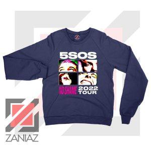 5sos No Shame 2022 Tour Navy Sweatshirt
