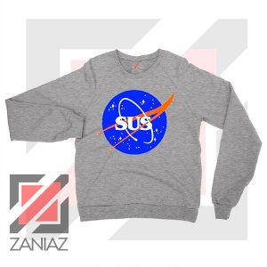 Among Us Game Nasa Parody Sport Grey Sweatshirt