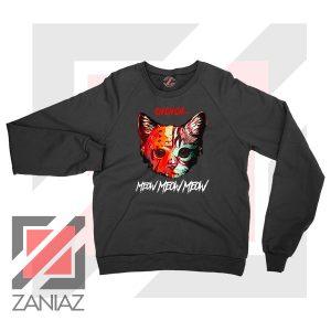 Black Cat Horror Halloween Sweater