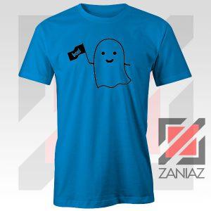 Cute Ghost Cozy Halloween Blue Tshirt