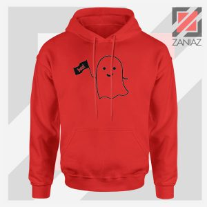 Cute Ghost Cozy Halloween Red Jacket