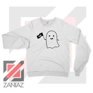 Cute Ghost Cozy Halloween Sweatshirt