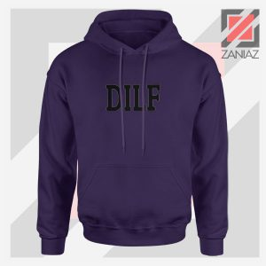 DILF Funny Father Day Graphic Navy Blue Jacket
