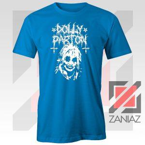 Dolly Parton Metal Design Blue Tee