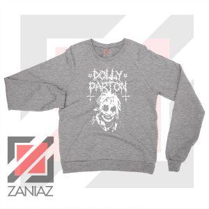 Dolly Parton Metal Design Sport Grey Sweater