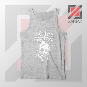 Dolly Parton Metal Design Sport Grey Tank Top