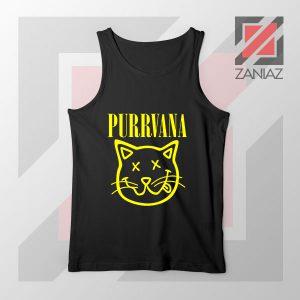 Funny Cat Parody Purrvana Tank Top