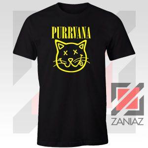 Funny Cat Parody Purrvana Tee