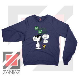 Funny Snoopy Say My Name Navy Blue Sweatshirt