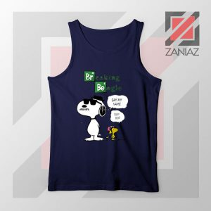 Funny Snoopy Say My Name Navy Blue Tank Top